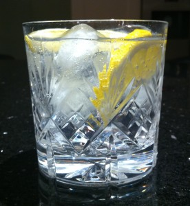 A gin and tonic - with ice!
