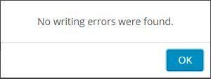 No writing errors were found